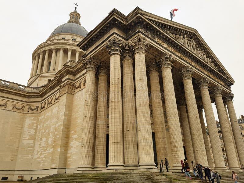 Nakładający panteon Paryż fotografia royalty free
