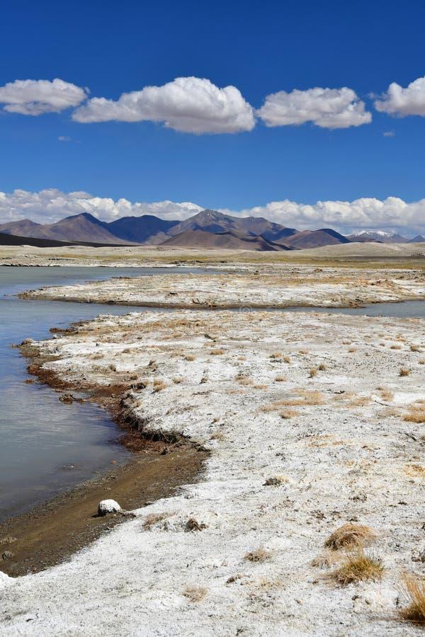 NAK fuertemente salino de Ruldan del lago en T?bet, China fotografía de archivo libre de regalías