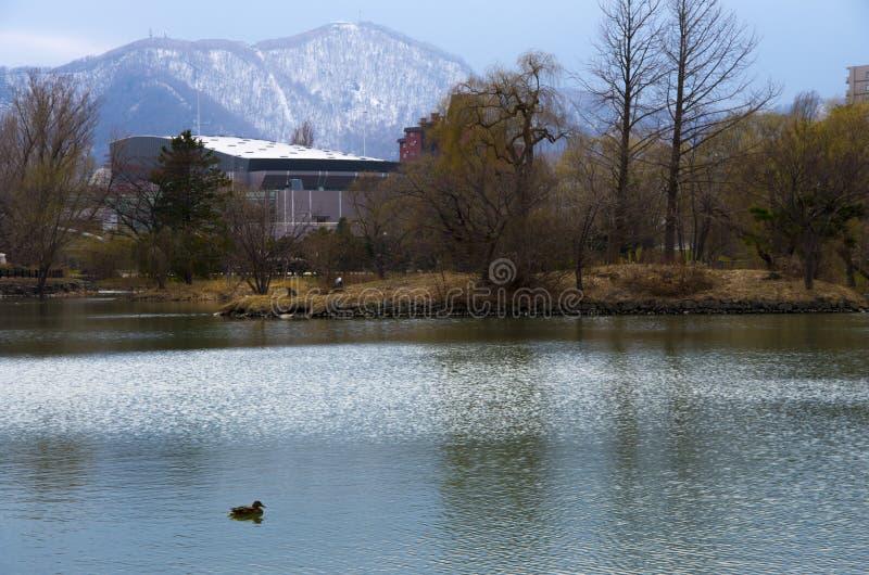 Nakajima park - Sapporo, Japonia obraz stock