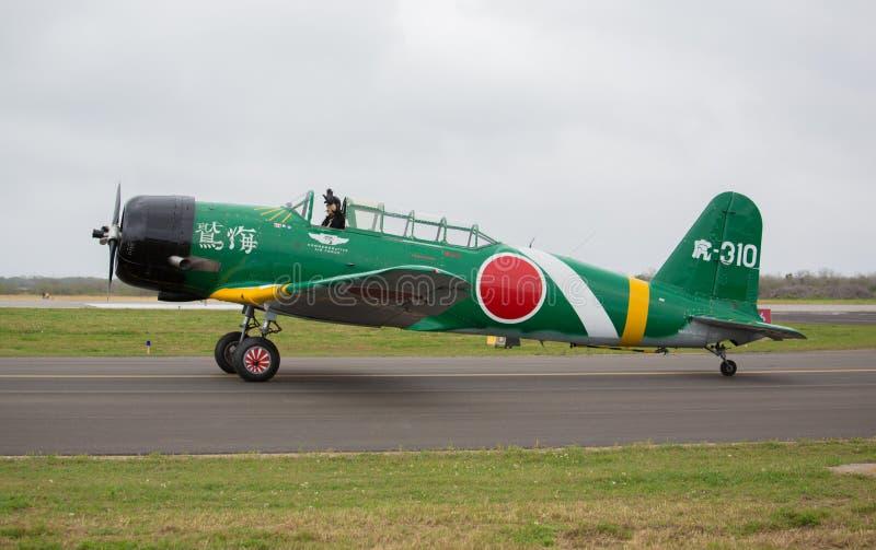 Nakajima torpedbombplan arkivbild