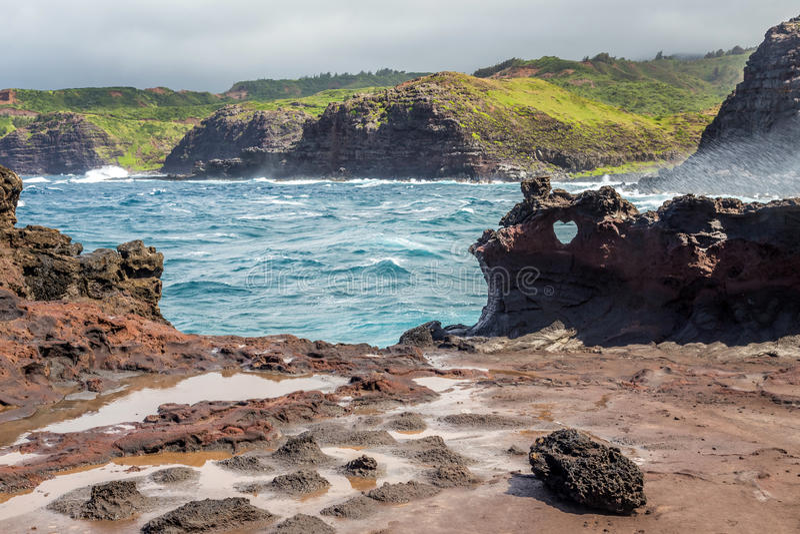 Nakalele Landscape Maui stock photos