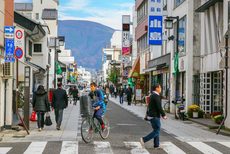 Nakamachistraat in de Stad van Matsumoto, Japan royalty-vrije stock fotografie