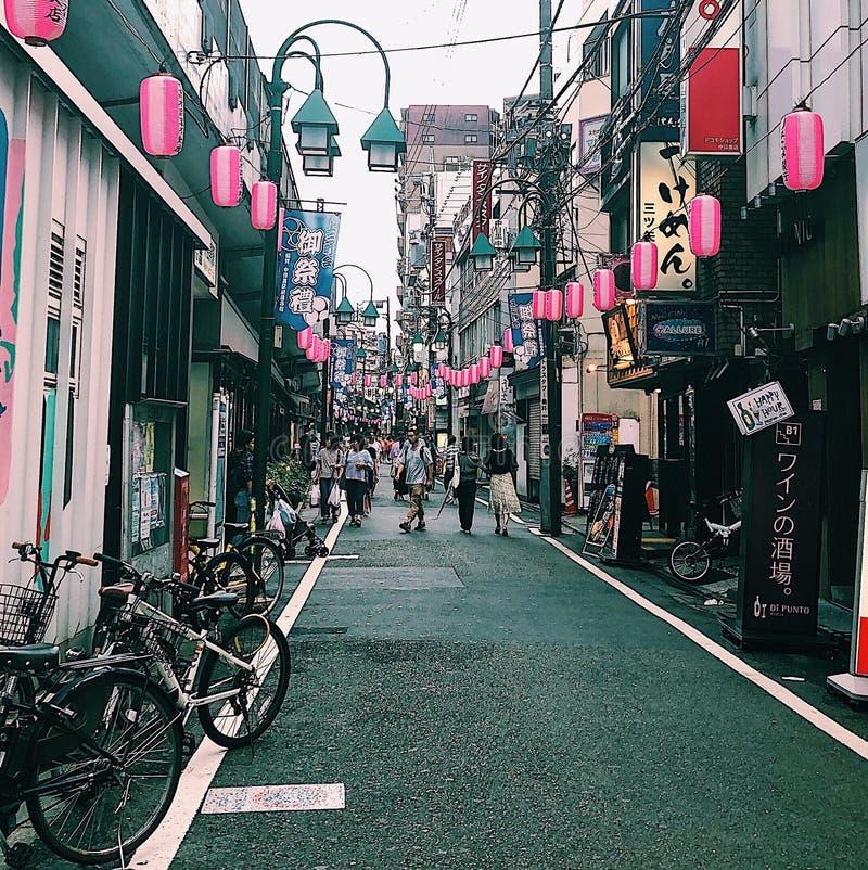 Nakameguro, Tóquio, Japão fotografia de stock