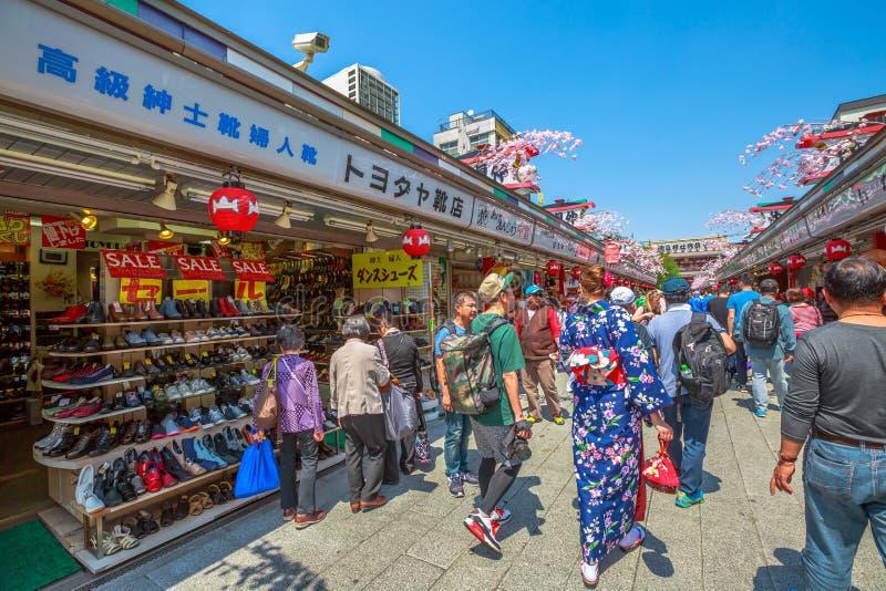 Nakamise-Dori in Asakusa royalty-vrije stock foto