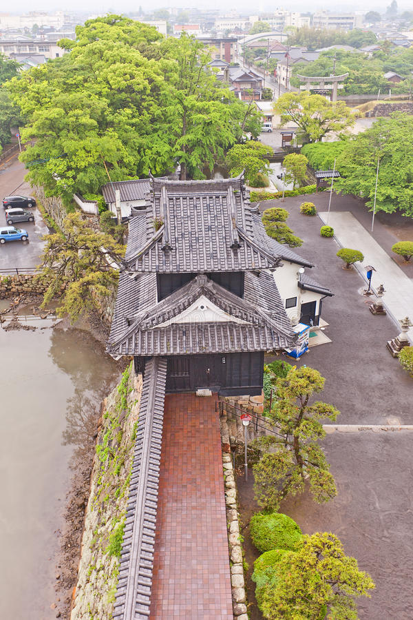 Nakatsu城堡塔楼在九州海岛,日本上的 免版税库存照片