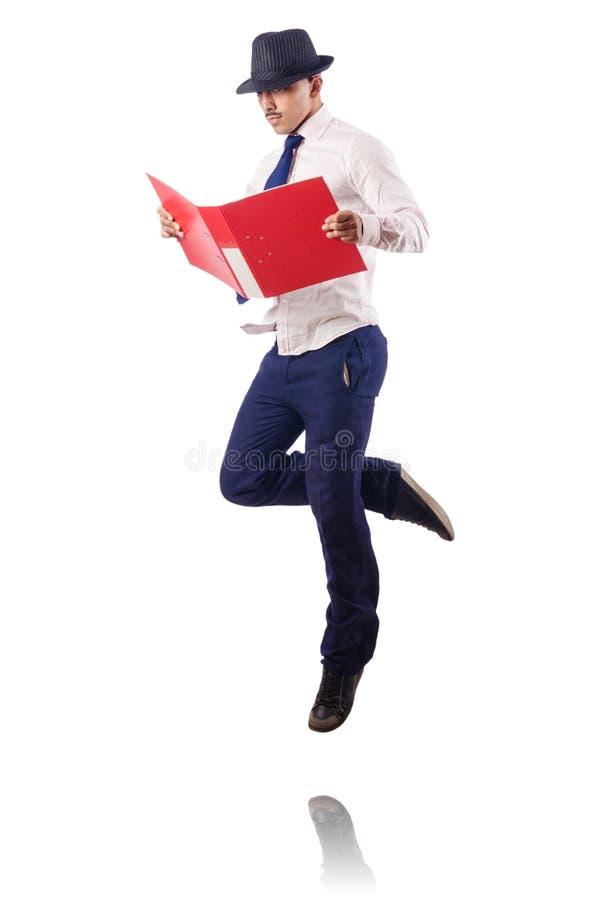 Download Naked businessman jumping stock image. Image of portrait - 26630561