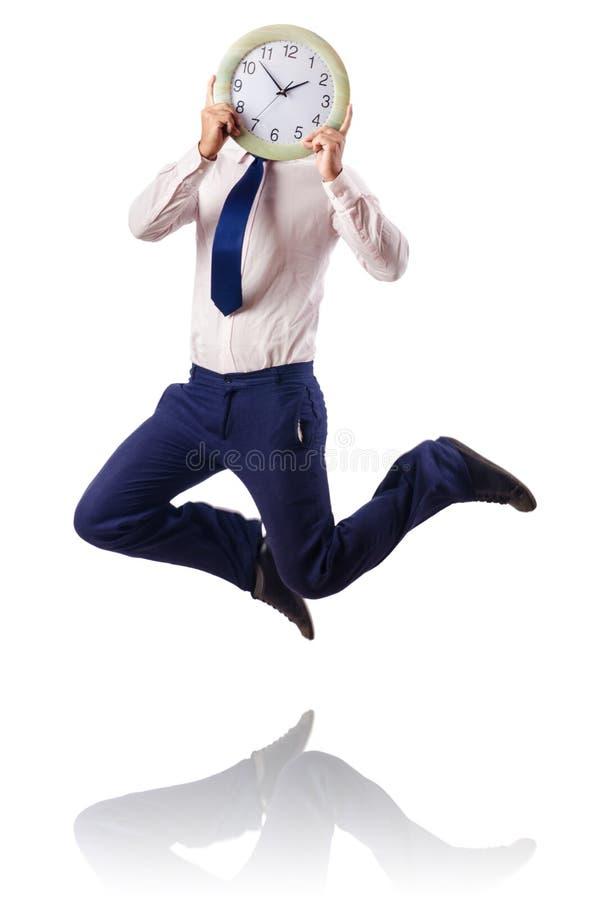 Download Naked businessman jumping stock image. Image of elegant - 26630583