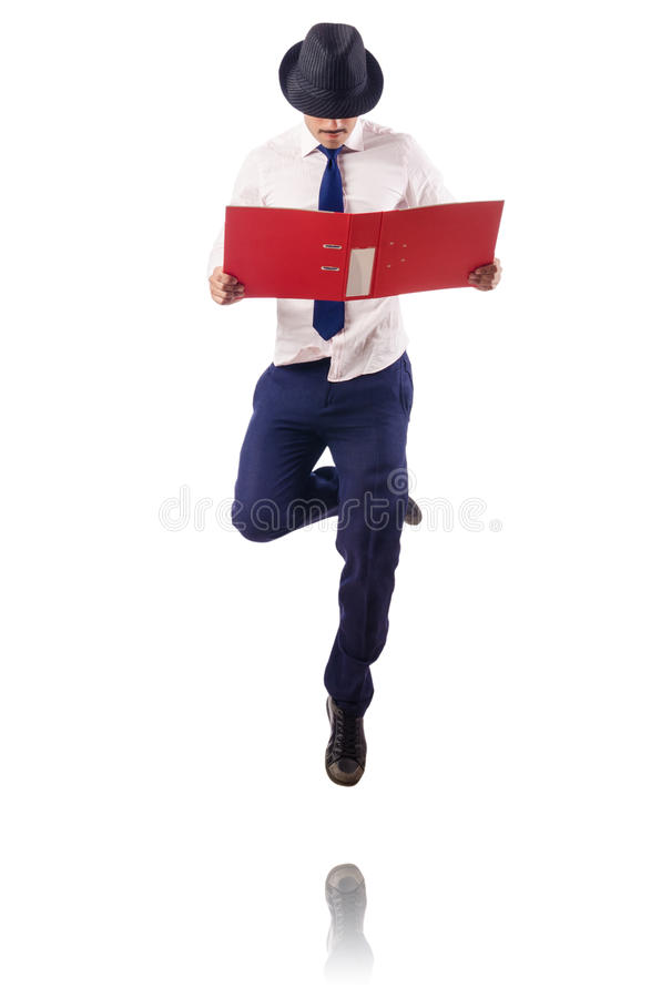 Download Naked Businessman Jumping Stock Photos - Image: 26841903