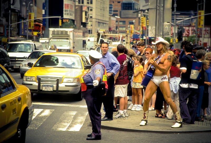 Naked Cowboy, Dollar Business 8_13 royalty free stock photos