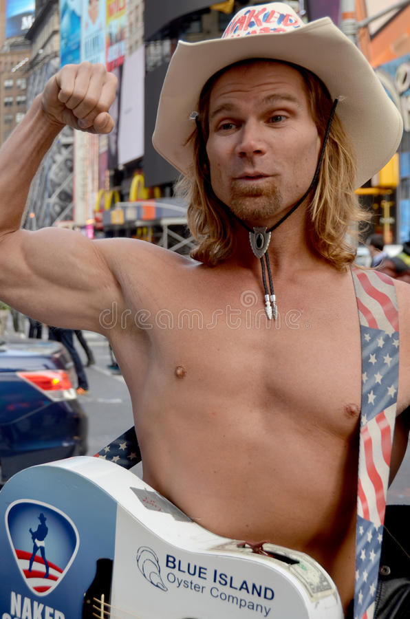 Naked Cowboy royalty free stock images