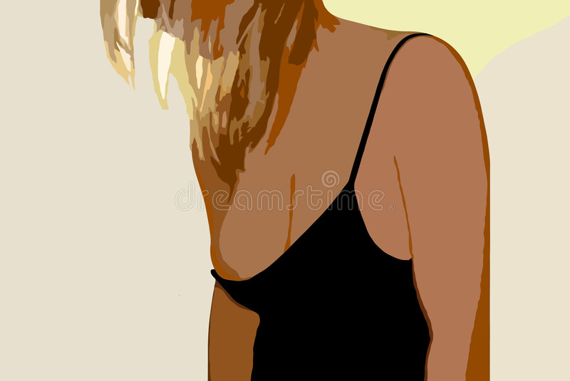 Download The naked girl stock vector. Image of color, hair, isolated - 4365958