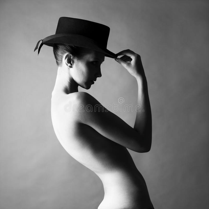 Download Naked lady with hat stock image. Image of accessory, lovely - 19964915
