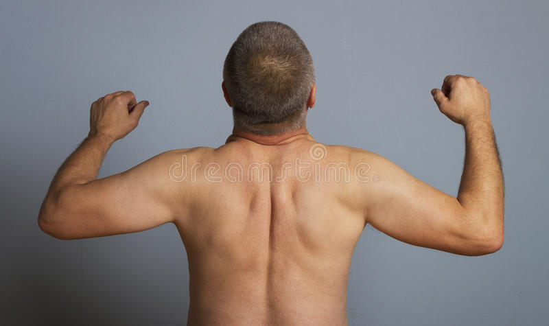 Naked man. royalty free stock image