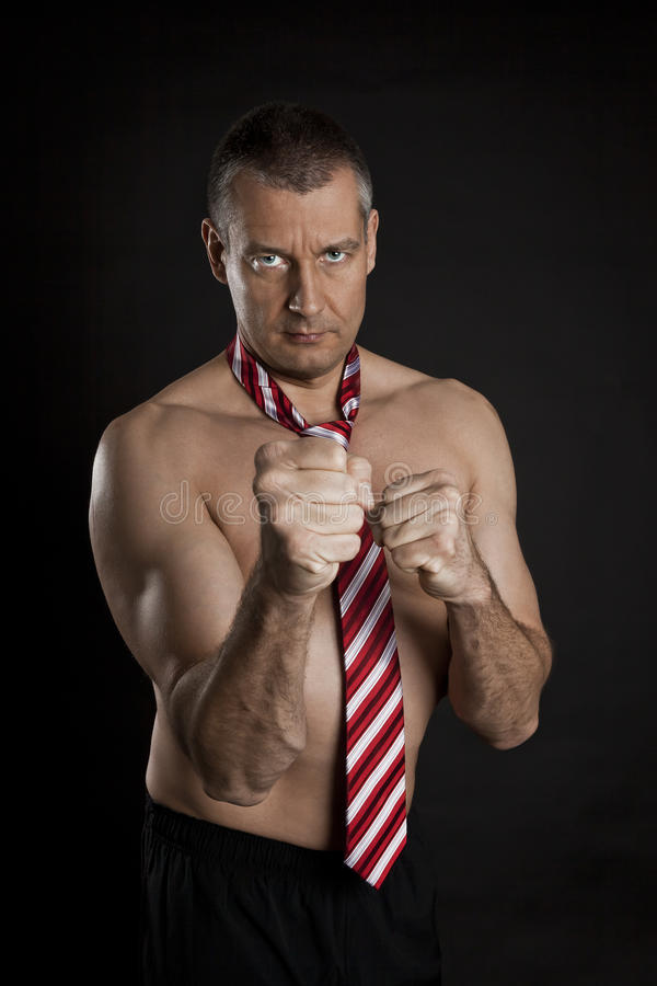Naked Man With Tie Royalty Free Stock Image
