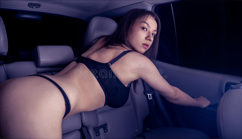 Girl driving naked 12
