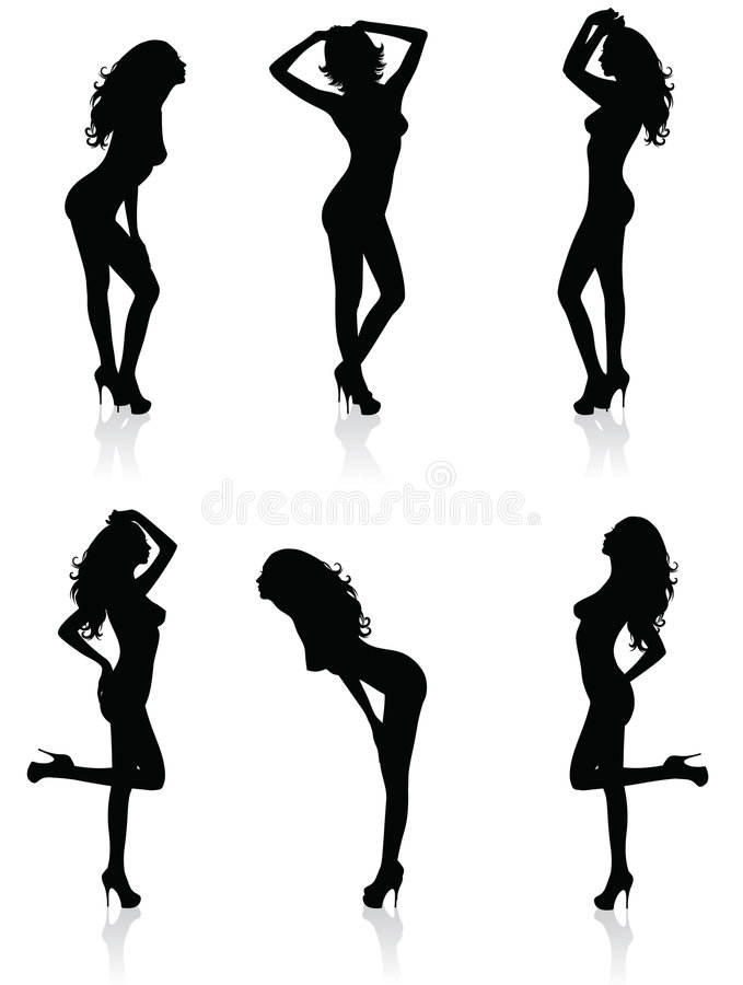 Download Naked silhouettes. stock vector. Illustration of naked - 8982273