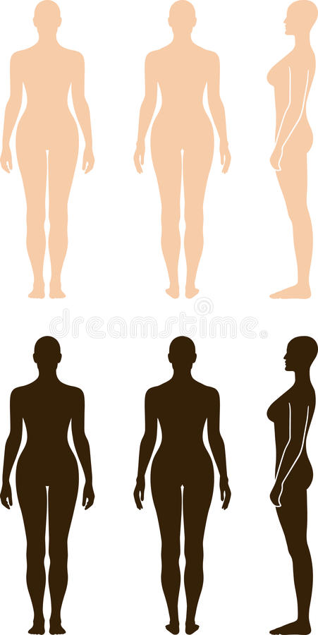Download Naked Standing Woman Vector Sihouette Stock Vector - Image: 22345898