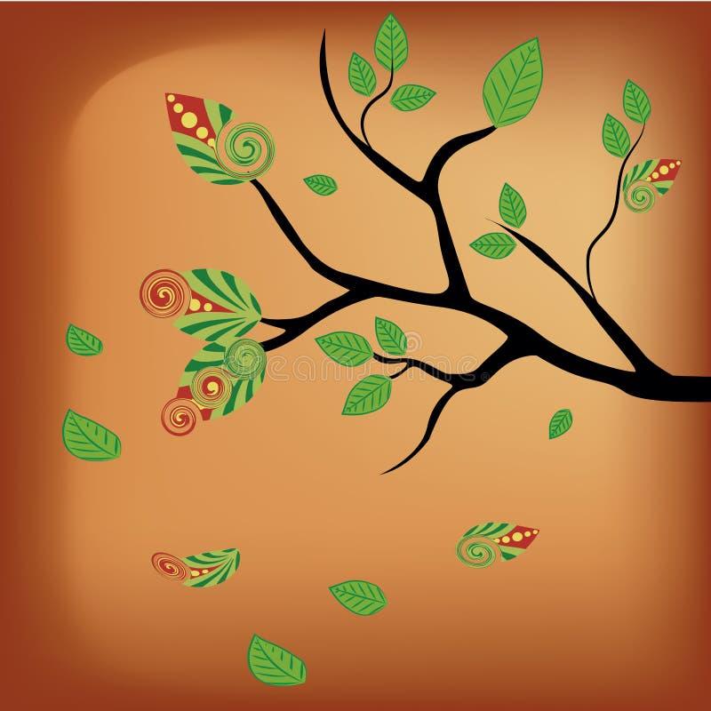 Download Naked tree in autumn stock vector. Image of garden, orange - 33800907