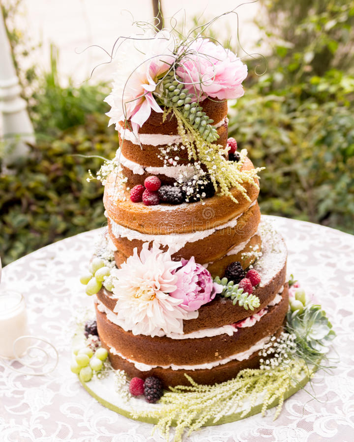 rustic wedding cake no frosting wedding cake stock photo image of california 19545