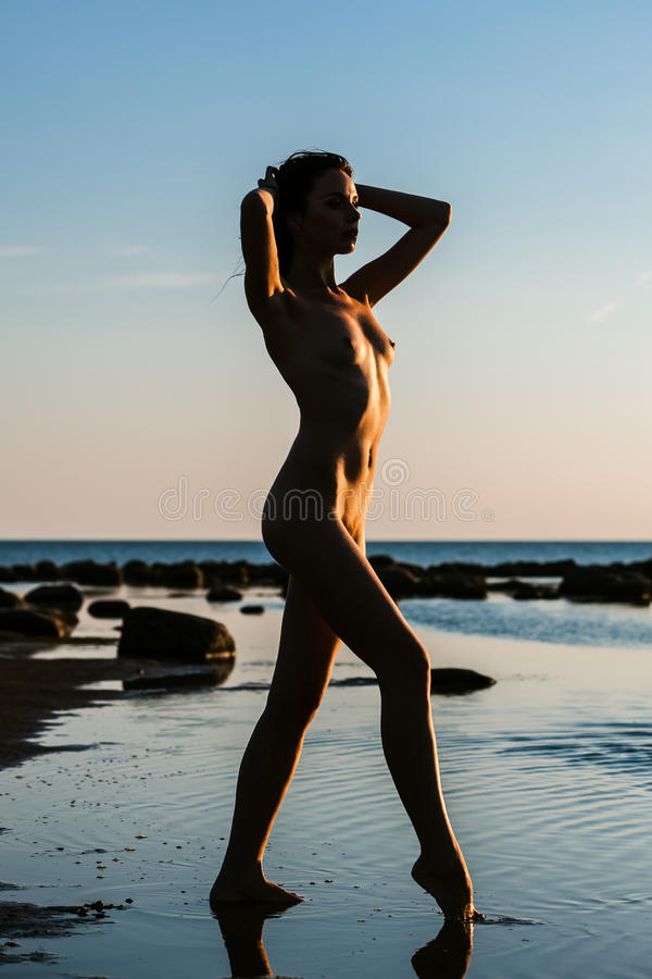 Beach nude girl happy 6