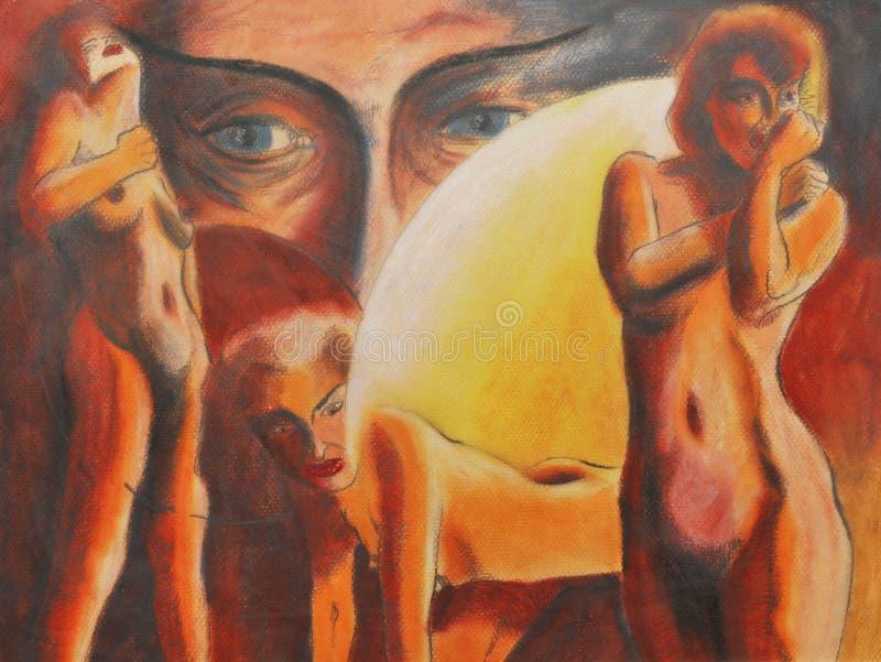 Naked women stock illustration