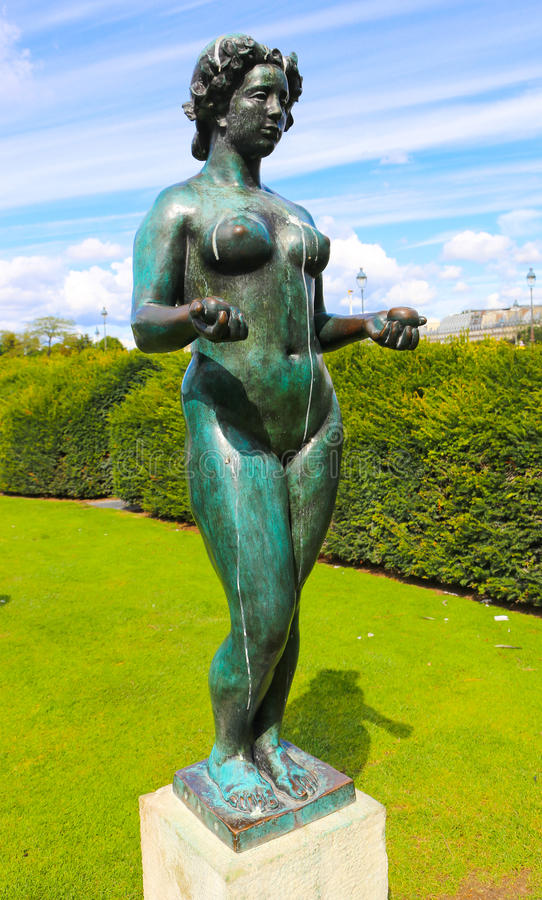 Naked women Statue - Paris. The famous statue of naked women near the Louvre Paris stock image