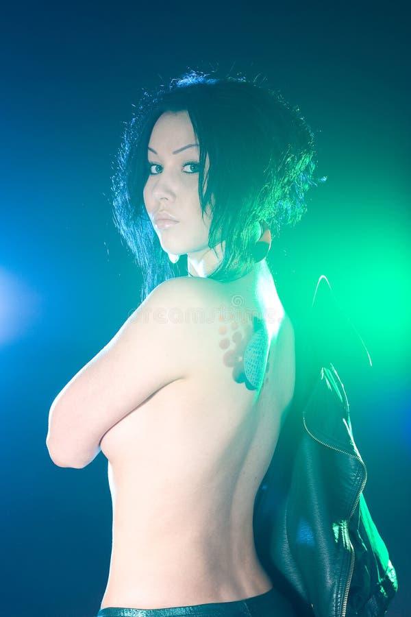 naken flicka royaltyfri foto