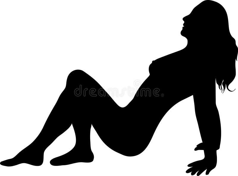 naken kvinna royaltyfri illustrationer