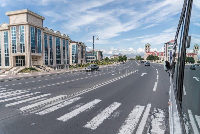 Nakhchivanstad - Nakhchivan, Azerbeidzjan - 14 Juni 2018 stock foto's