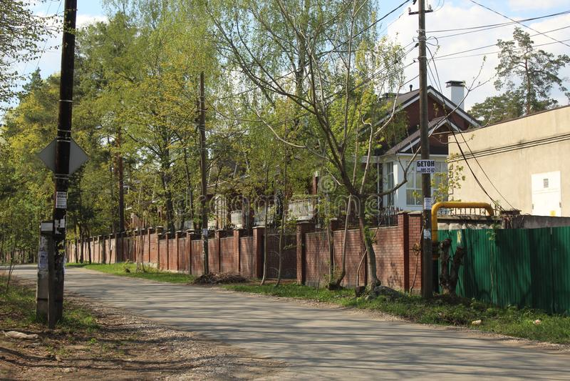 Russia. Moscow Oblast. Korolyov City. Nakhimov street. This is Nakhimov street, Valentinovka district, Korolyov city, Moscow Region, Russian Federation, Europe stock images