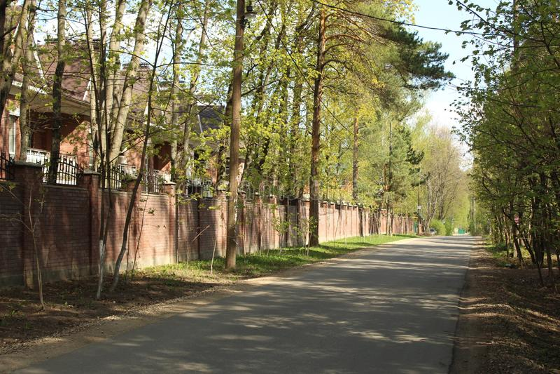 Russia. Moscow Oblast. Korolyov City. Nakhimov street. This is Nakhimov street, Valentinovka district, Korolyov city, Moscow Region, Russian Federation, Europe royalty free stock photos