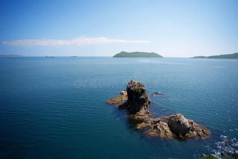 Download Nakhodka Bay stock image. Image of ships, cliffs, blue - 26442685