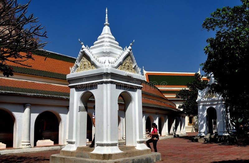 Nakhon, Pathom, Thailand: Belfry at Thai Temple stock image
