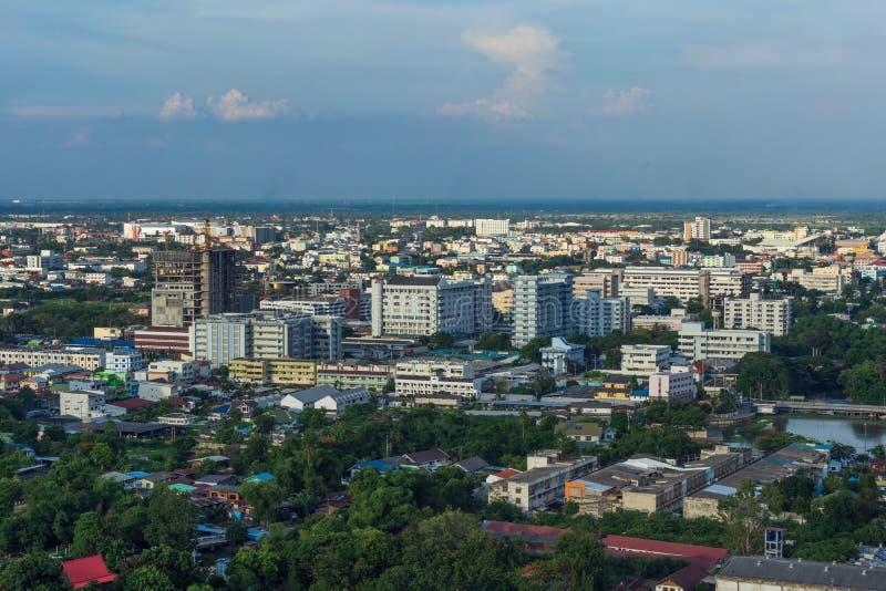 Aerial view of Nakhon Ratchasima city or Korat, Thailand stock photography