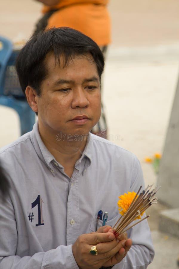 NAKHON SI THAMMARAT THAILAND - JUNI 25, 2017: Oidentifierade Tha royaltyfri fotografi