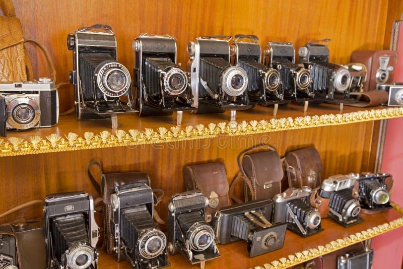 Nakhonratchasima, ТАИЛАНД - 1-ое июня 2015: Античная старая камера c стоковая фотография rf
