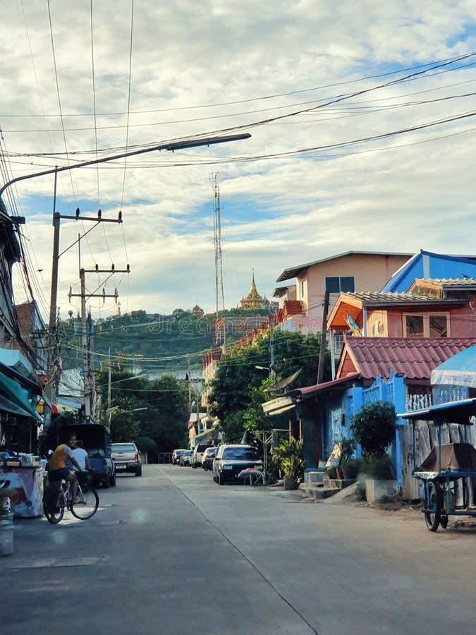 Nakhonsawan省地方区的看法,中部,泰国 免版税库存图片