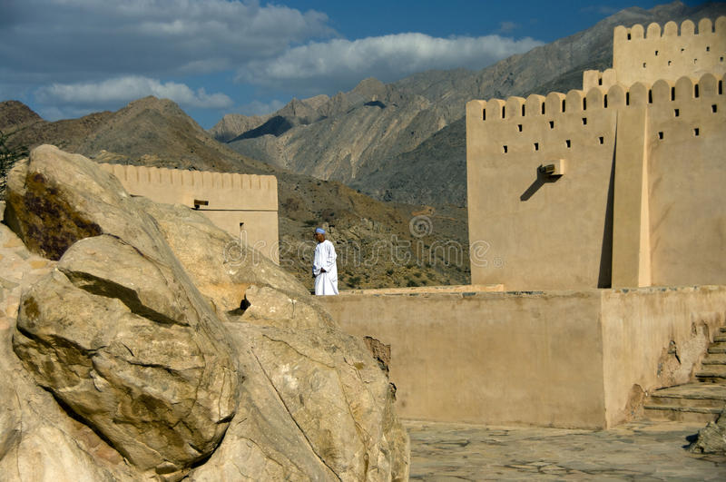 Naklah Fort, Oman royalty free stock photography