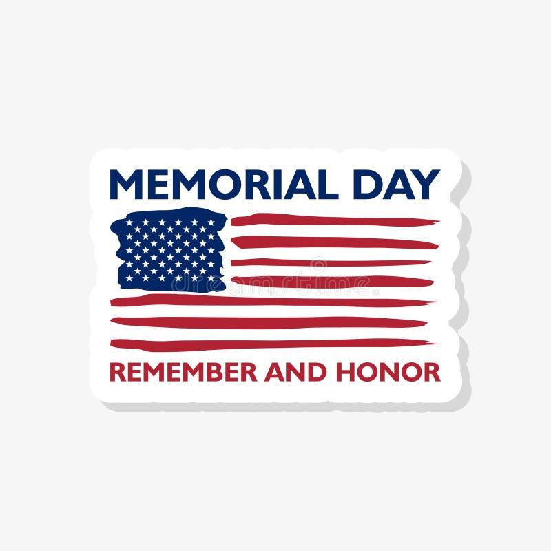 Naklejka na Dzień Pamięci. Ikona Pamięć i honor ilustracja wektor