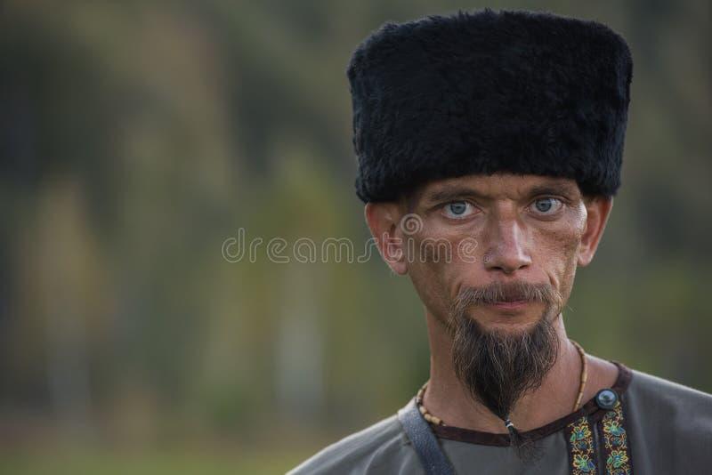 Nakomelingen van de Kozakken in Altai royalty-vrije stock fotografie