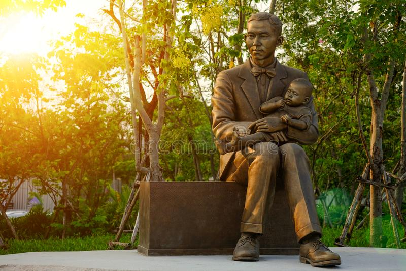 Monument of Prince Mahidol Adulyadej at Mahidol University , Thailand. royalty free stock photo