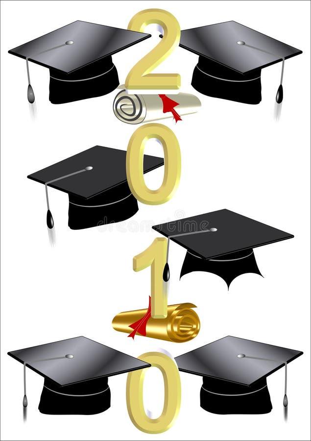 nakrętek 2010 dyplomów royalty ilustracja