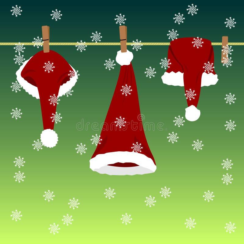 nakrętek Claus siatka Santa ilustracja wektor