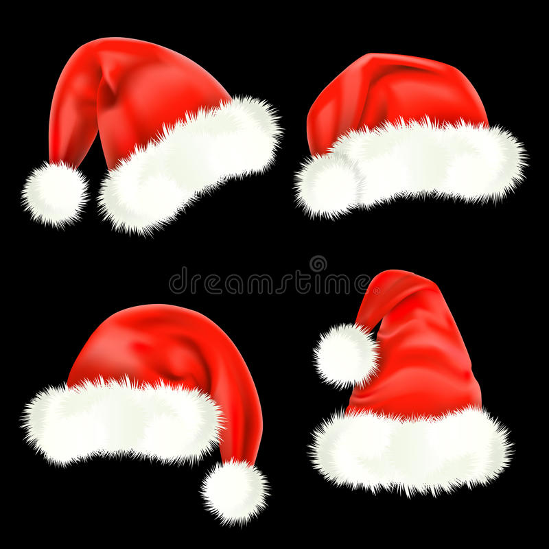 nakrętek Claus siatka Santa ilustracji