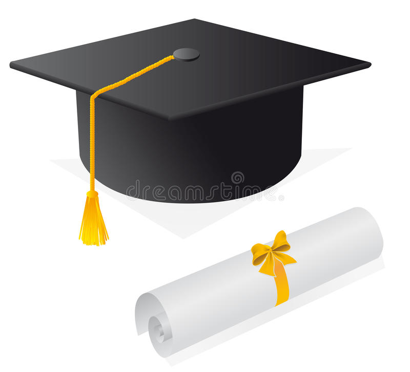 nakrętka dyplom royalty ilustracja