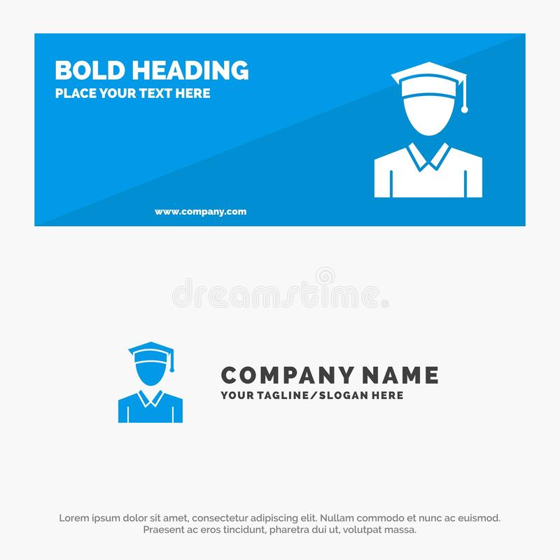 Nakrętka, edukacja, skalowanie ikony strony internetowej stały sztandar i biznesu logo szablon, royalty ilustracja