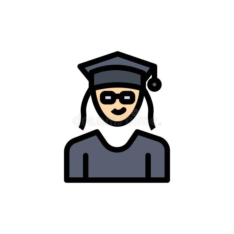 Nakrętka, edukacja, skalowanie, kobieta koloru Płaska ikona Wektorowy ikona sztandaru szablon ilustracji