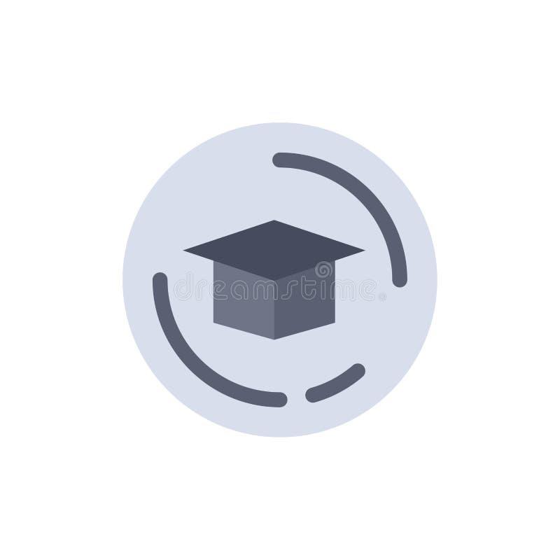 Nakrętka, edukacja, skalowanie koloru Płaska ikona Wektorowy ikona sztandaru szablon ilustracji