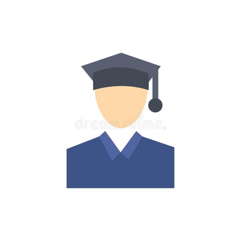 Nakrętka, edukacja, skalowanie koloru Płaska ikona Wektorowy ikona sztandaru szablon ilustracja wektor