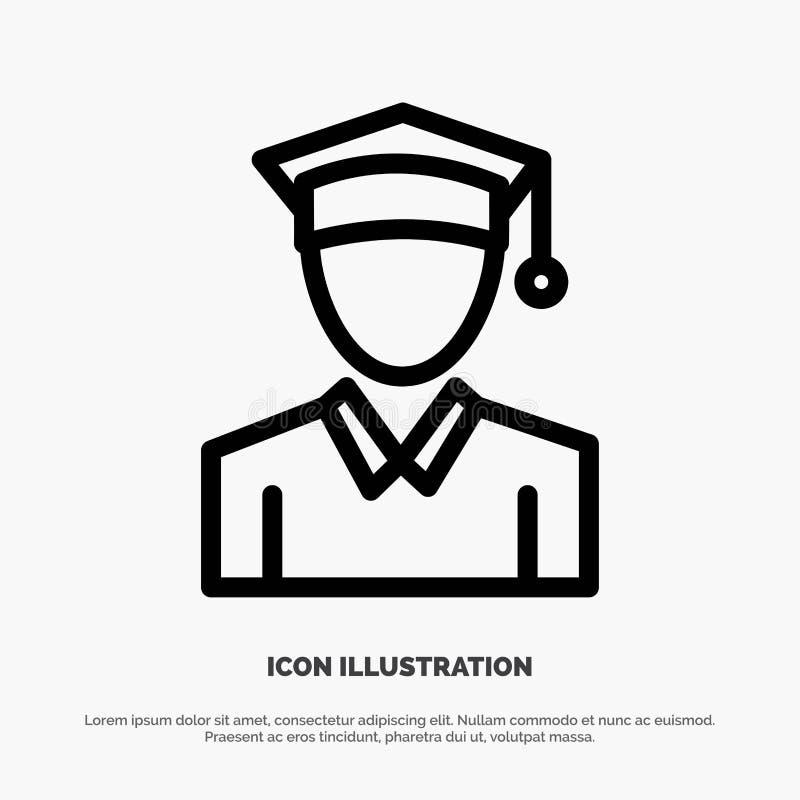 Nakrętka, edukacja, skalowanie linii ikony wektor ilustracji